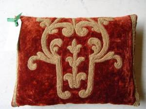 doesnt cost the earth velvet cushion