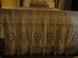 Antique embroidered bedspread