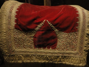 Antique embroidered saddle cloth