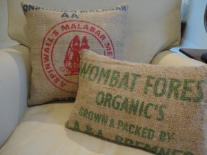 organic grain sack cushions