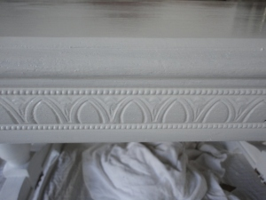 Carved edge of table