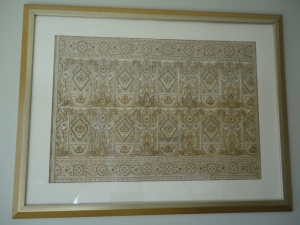 framed recycled sari