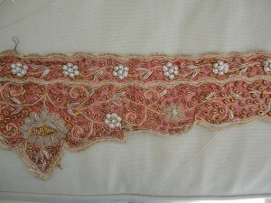Antique sari trim