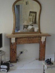 stripped mantlepiece