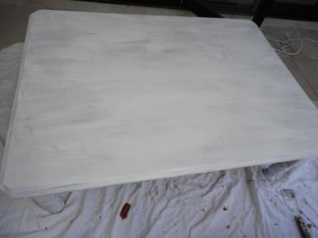 Primed white coffee table wood