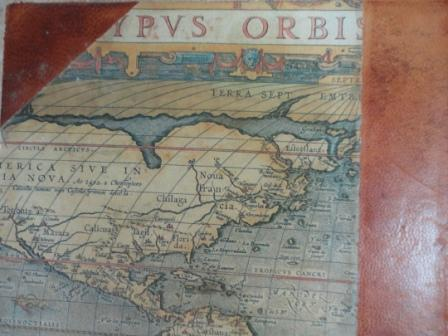 leather bound book map cover vintage interior2