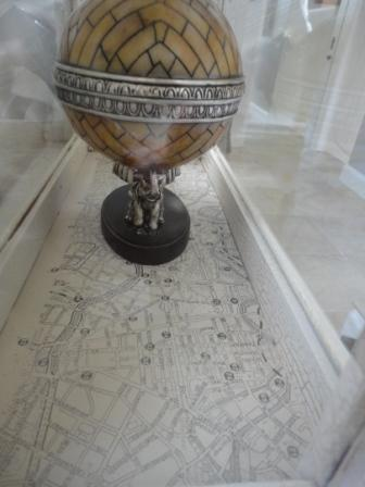 cabinet lining map cover vintage interior