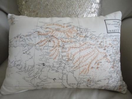 silk aviator escape map cushion interior