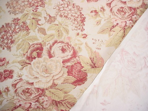 chintz fabric curtain interior