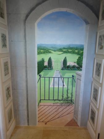finished mural trompe l'oeil paint effects interiors