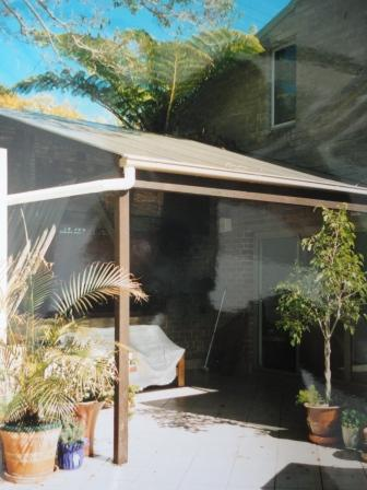 Veranda before