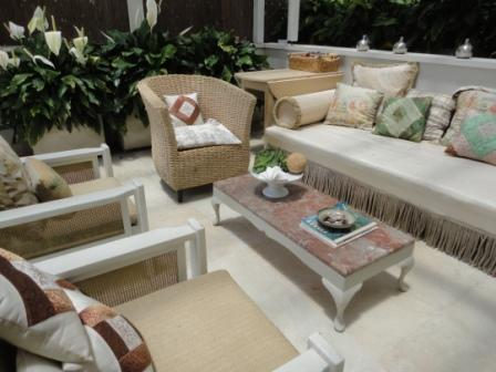 Day bed veranda indoor seating outdoor living design