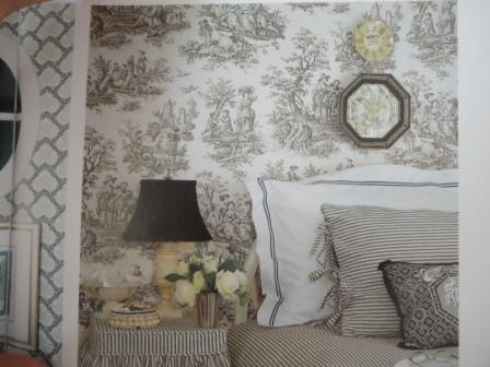 grey bedroom toile  interior gray