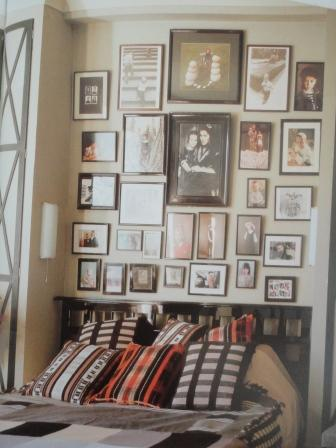 black white grey bedroom art hang interior