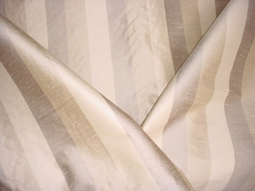 silk stripe curtain fabric interior
