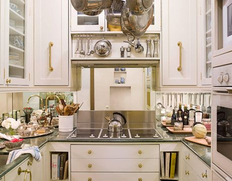 small galley kitchen white